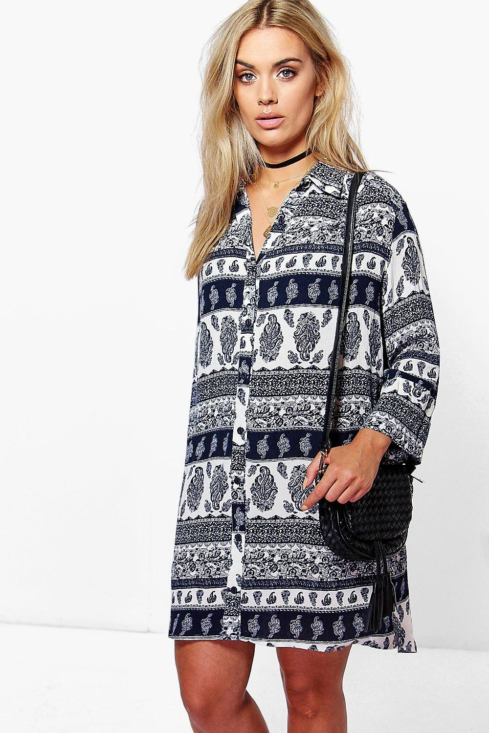 Plus Indi Paisley Shift Dress