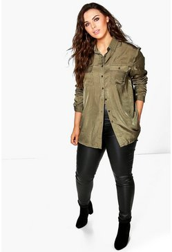 Plus Rella Military Shirt