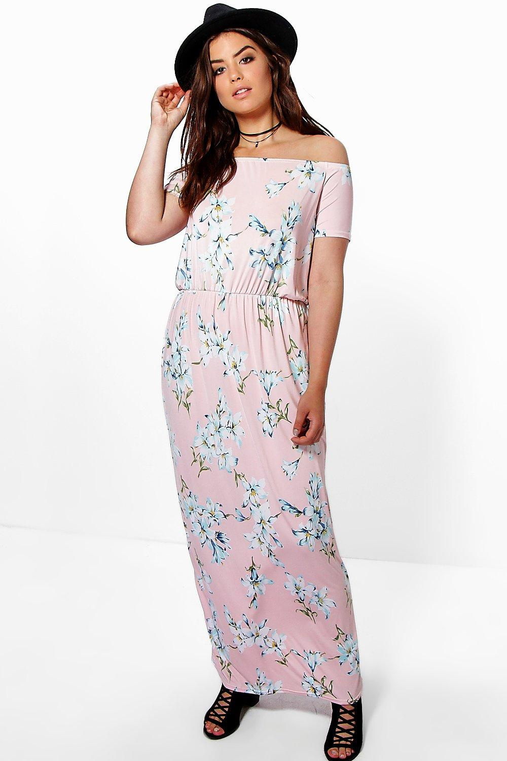 Plus Mina Floral Bandeau Maxi Dress