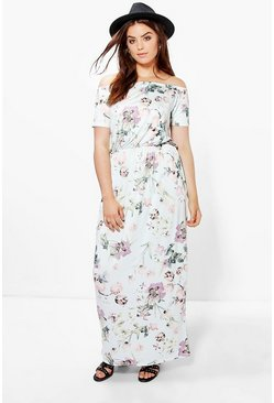 Plus Beci Floral Bandeau Maxi Dress