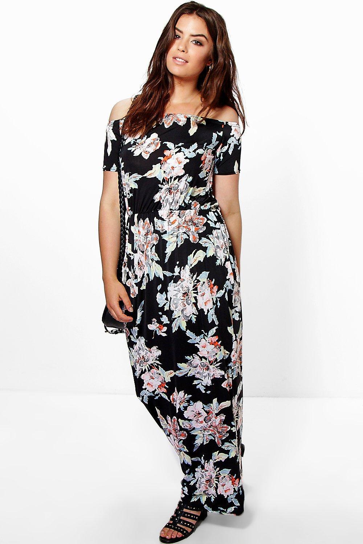 Plus Delilah Floral Bandeau Maxi Dress