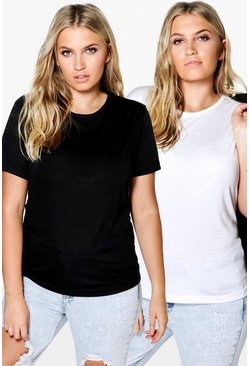 Plus Riley 2 Pack Oversize T-Shirt