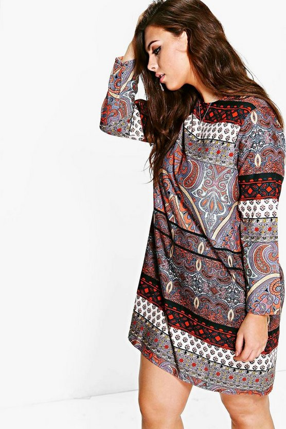 Plus Annora Paisley Shift Dress