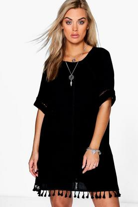 Plus Carmel Festival Tassel Shift Dress