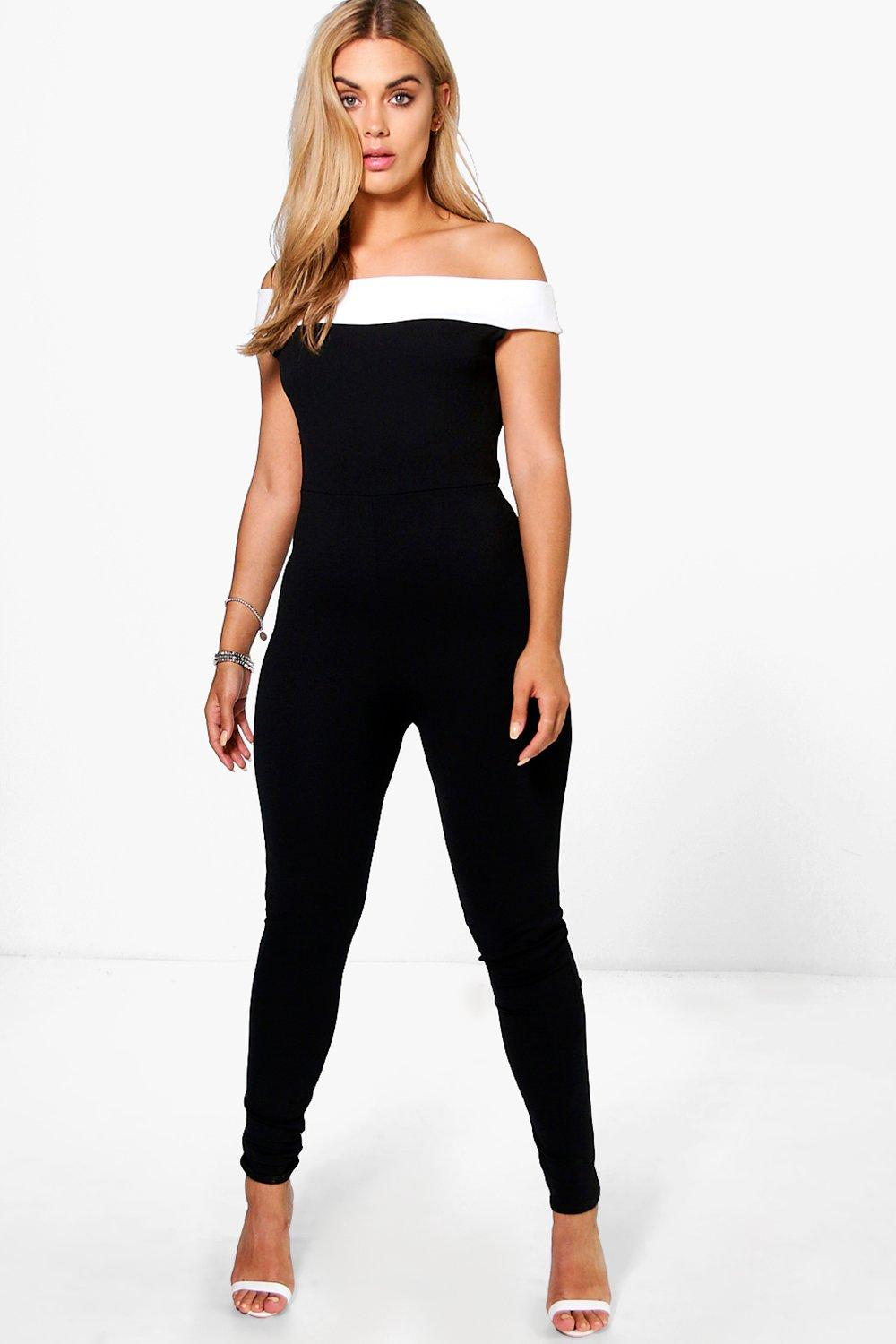 Plus Stefi Contrast Panel Jumpsuit