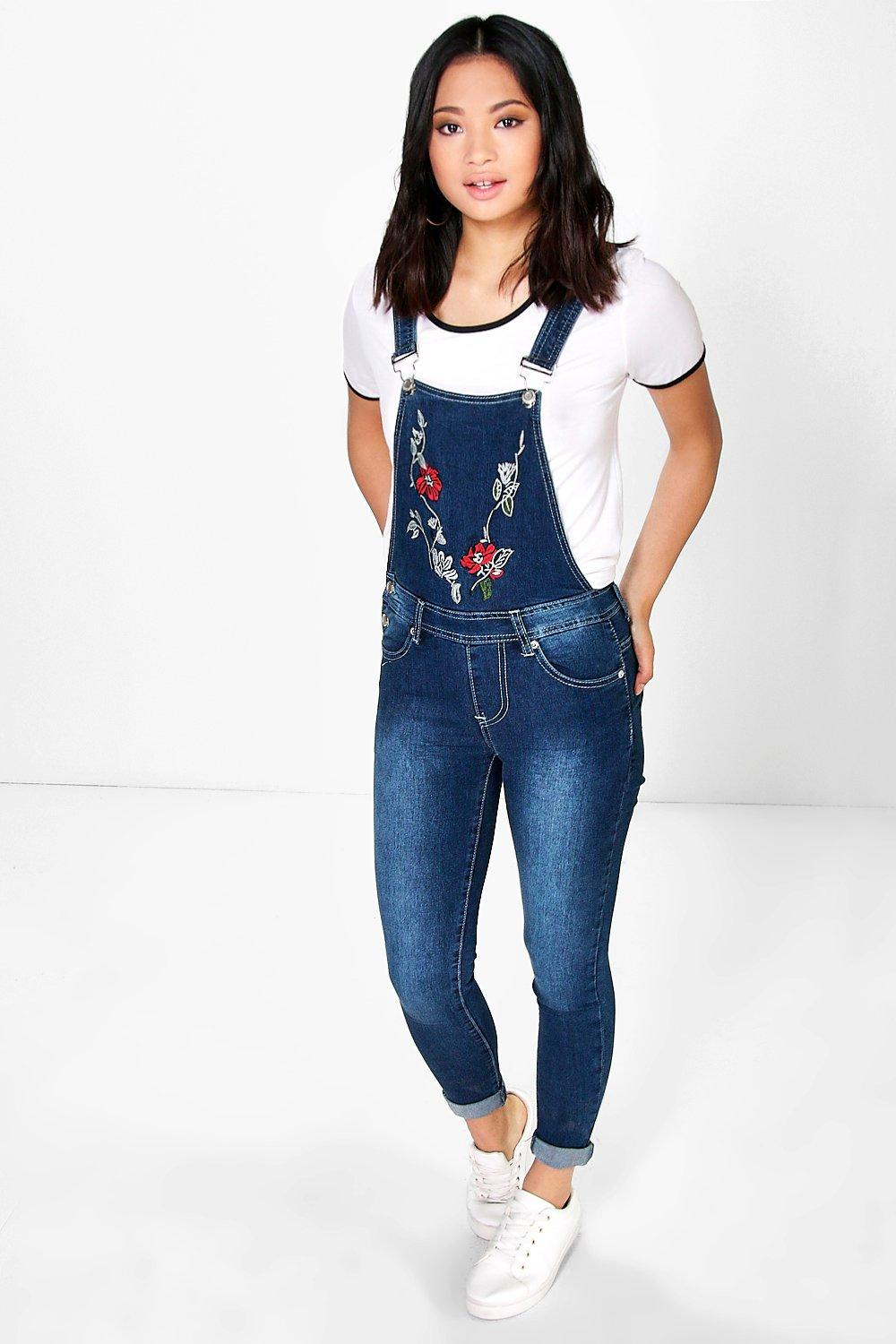 Petite Kelly Embroidered Dungaree
