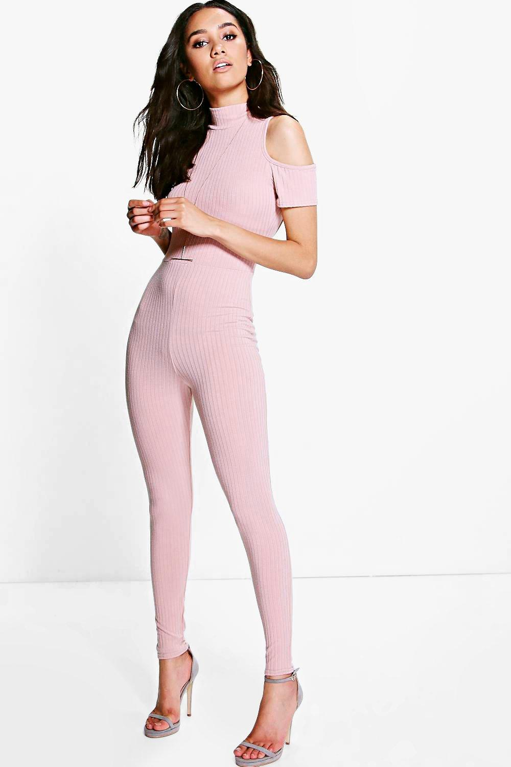 Petite Nikki Cold Shoulder Cat Suit
