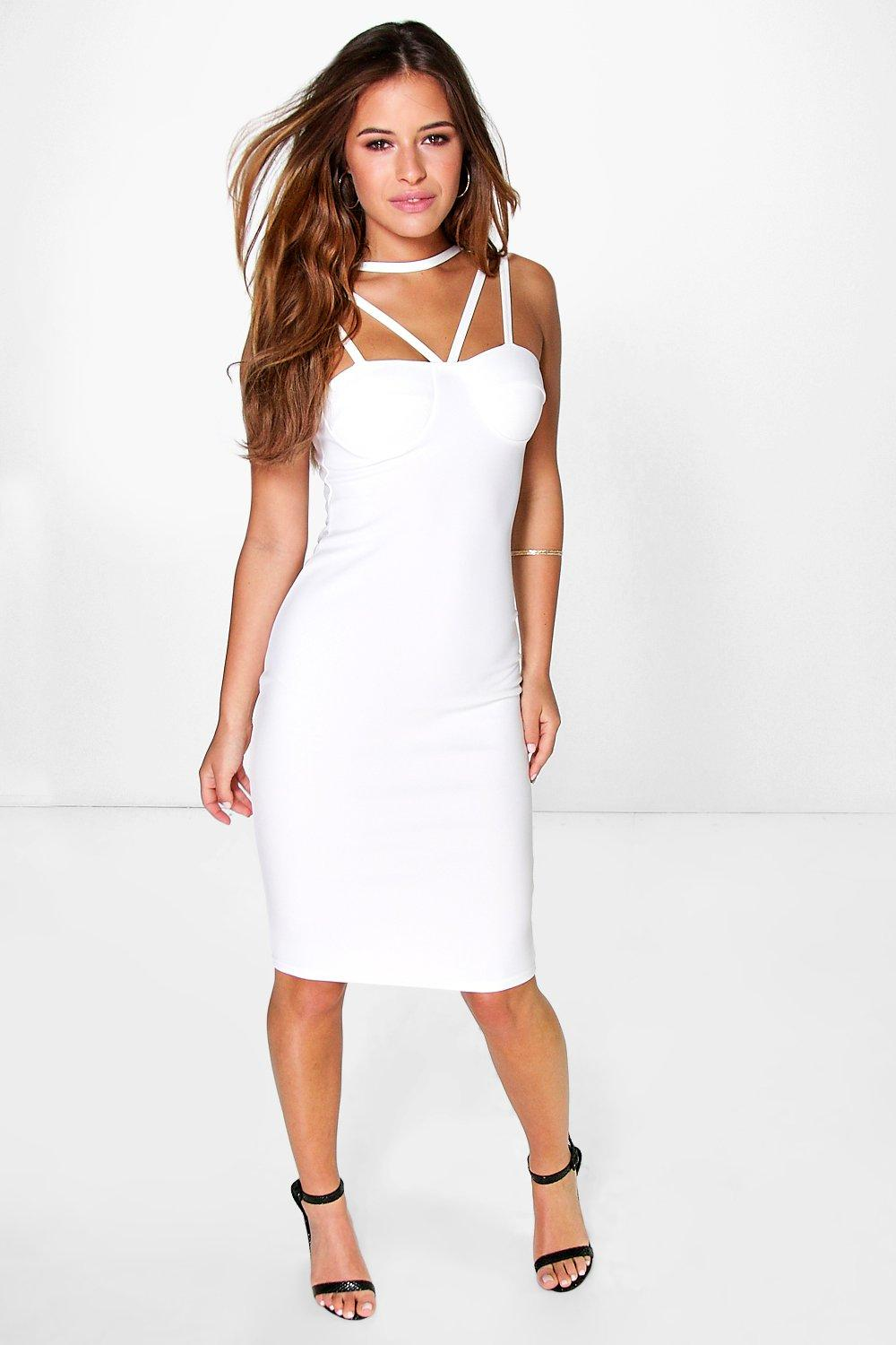 Petite Frankie Cross Strap Bodycon Dress