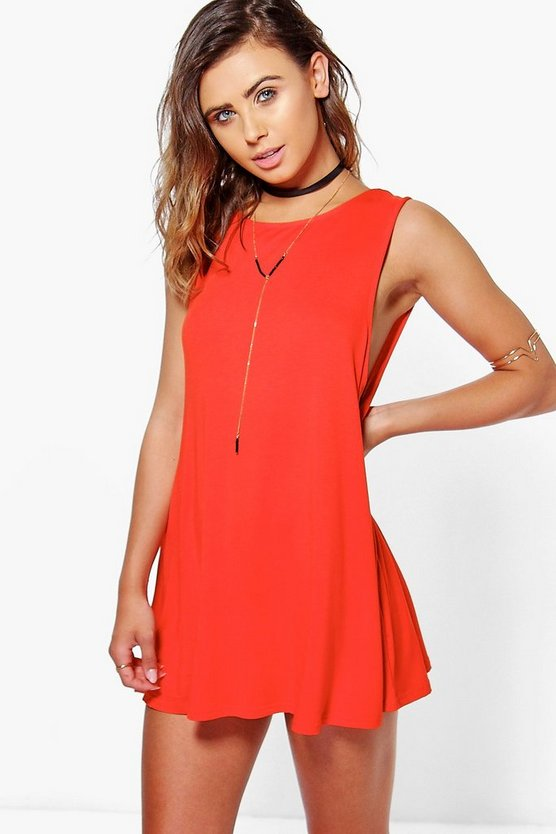 Petite Drop Armhole Swing Dress