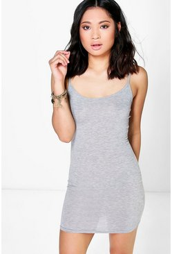 Petite Frey Basic Scoop Neck Bodycon Dress