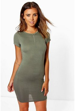 Petite Roxy Cap Sleeve Mini Bodycon Dress