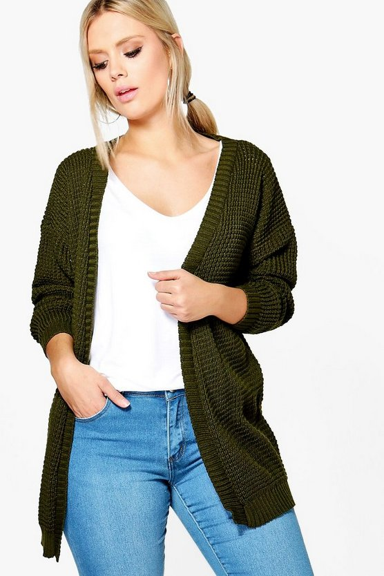 Plus Frances Edge To Edge Waffle Knit