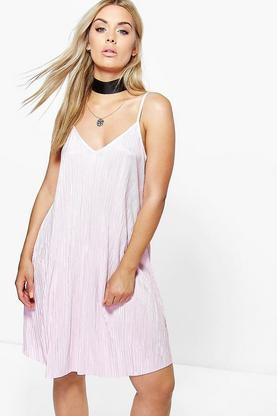 Plus Karin Pleated Swing Dress