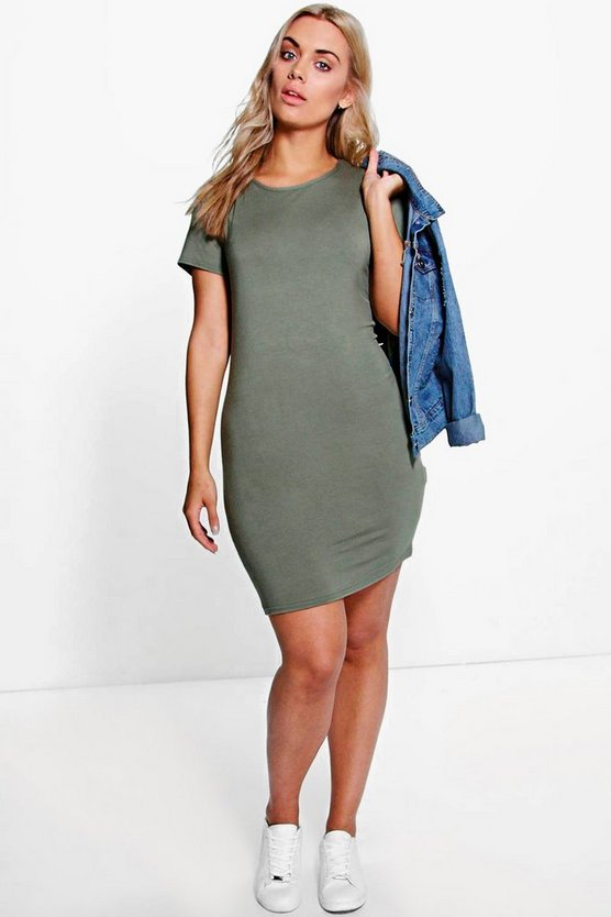 Plus Faith Short Sleeve Bodycon Dress