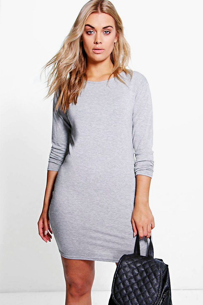 Plus Macie 3/4 Sleeve Bodycon Dress