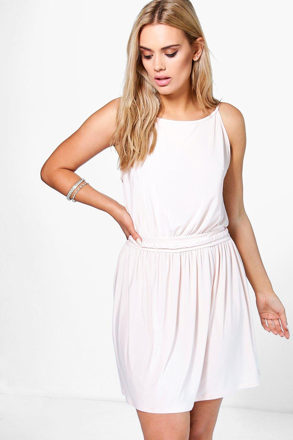 Plus Gabbie Plait Detail Skater Dress