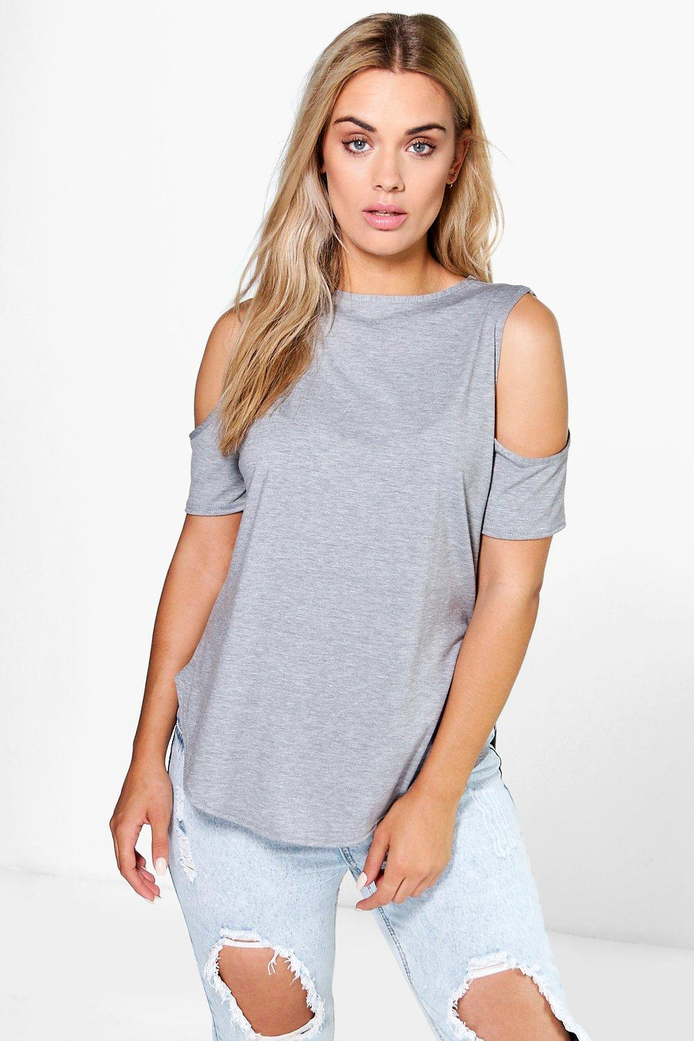 Plus Candy Open Shoulder Tee