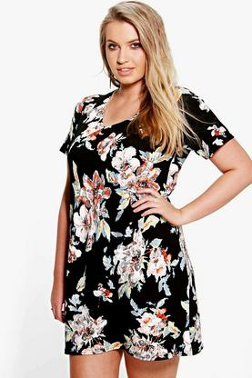 Plus April Floral Shift Dress