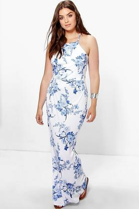 Plus Elouise Floral Maxi Dress