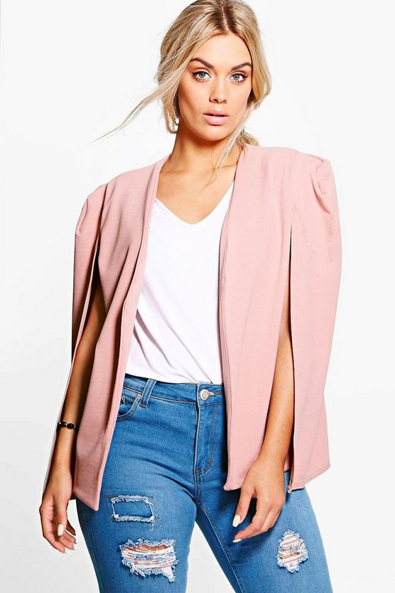 Plus Tailored Crepe Cape