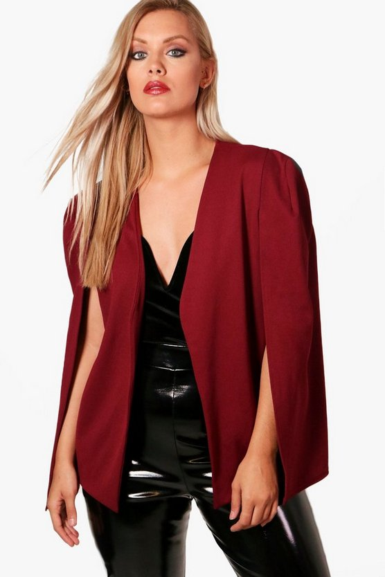 Plus Penny Tailored Crepe Cape