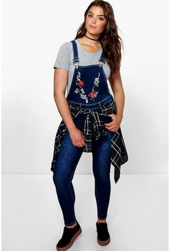 Plus Indea Embroidered Dungaree