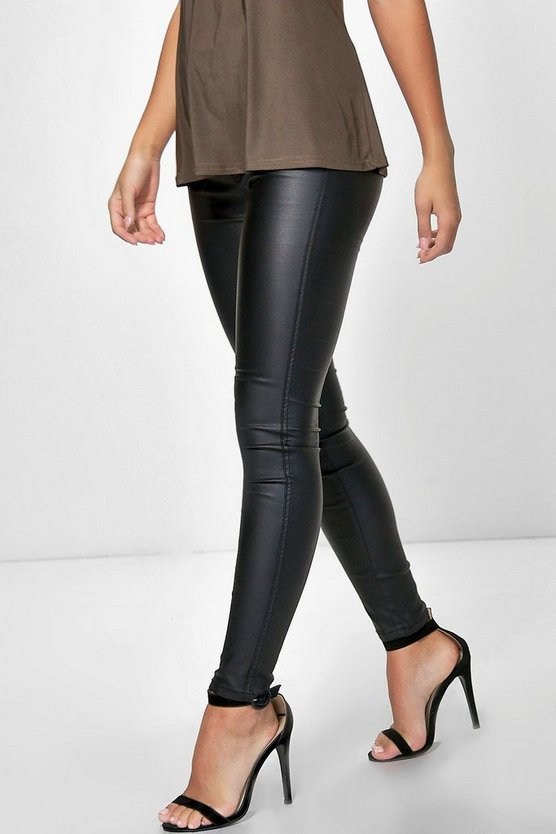 Petite Penny High Rise Coated Tube Jean