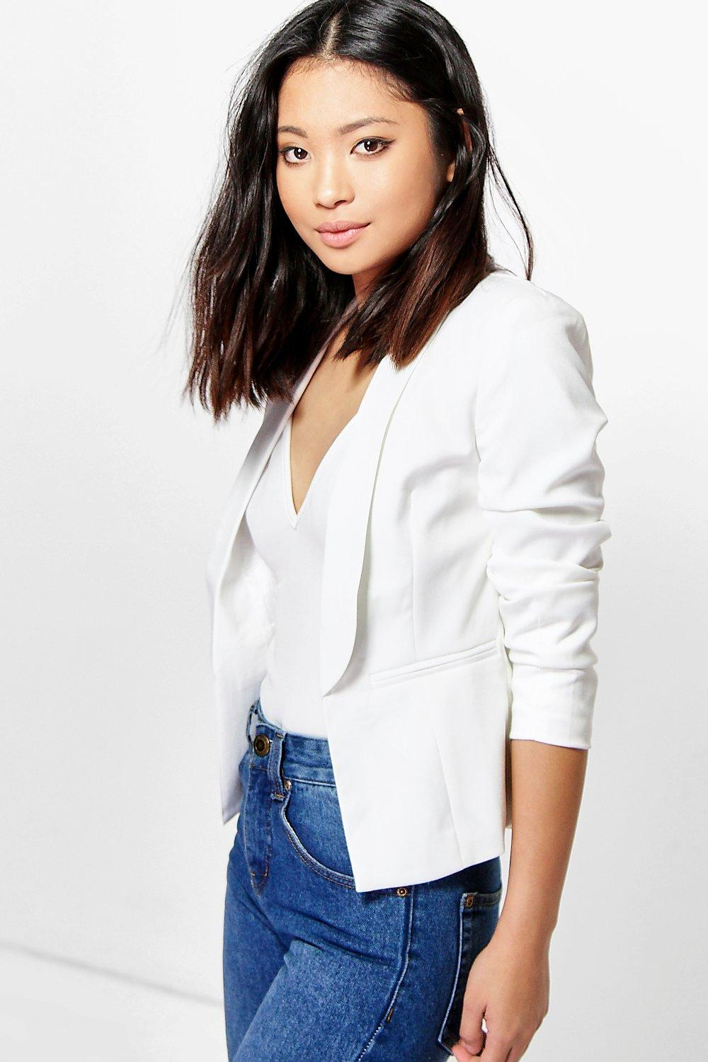 Petite Casey Woven Soft Blazer With Collar