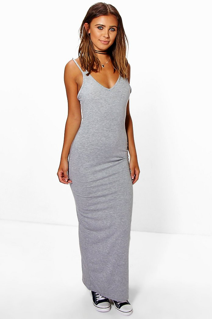 Petite Roxie Strappy Basic Maxi Dress