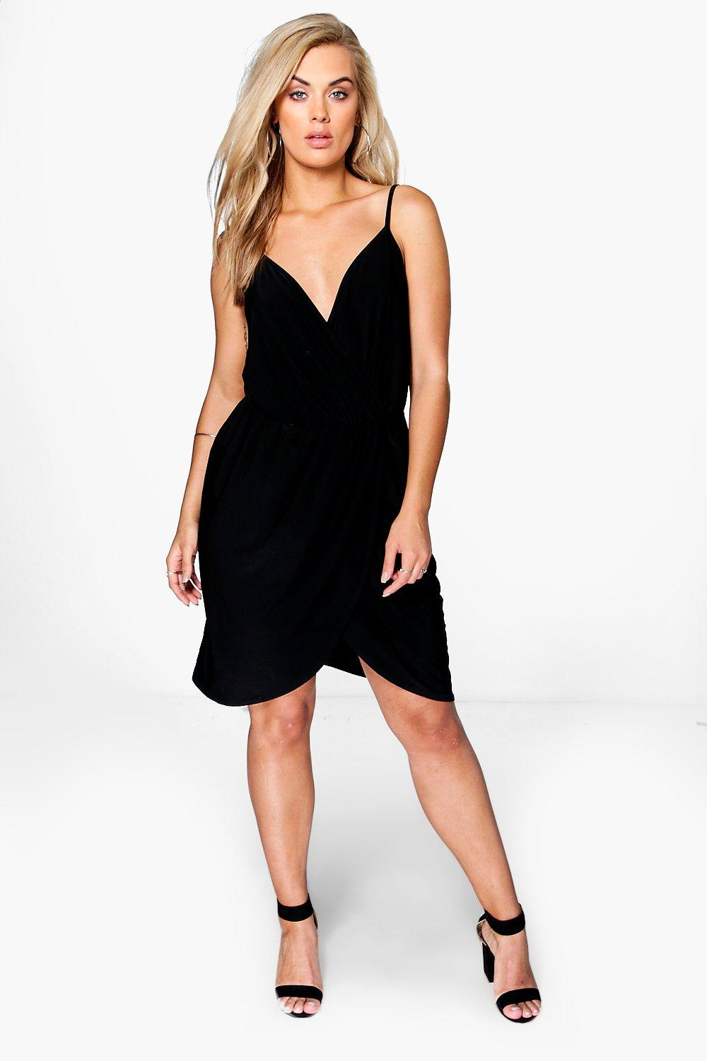 Plus Selena Strappy Slinky Wrap Dress