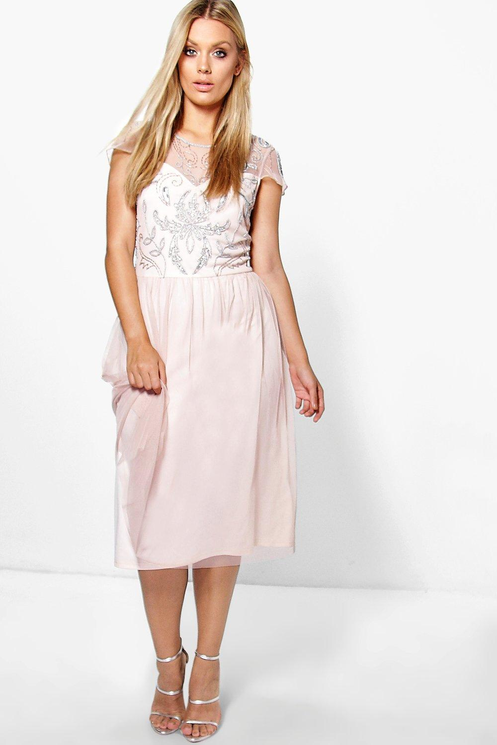 Plus Lucienne Embellished Babydoll Dress