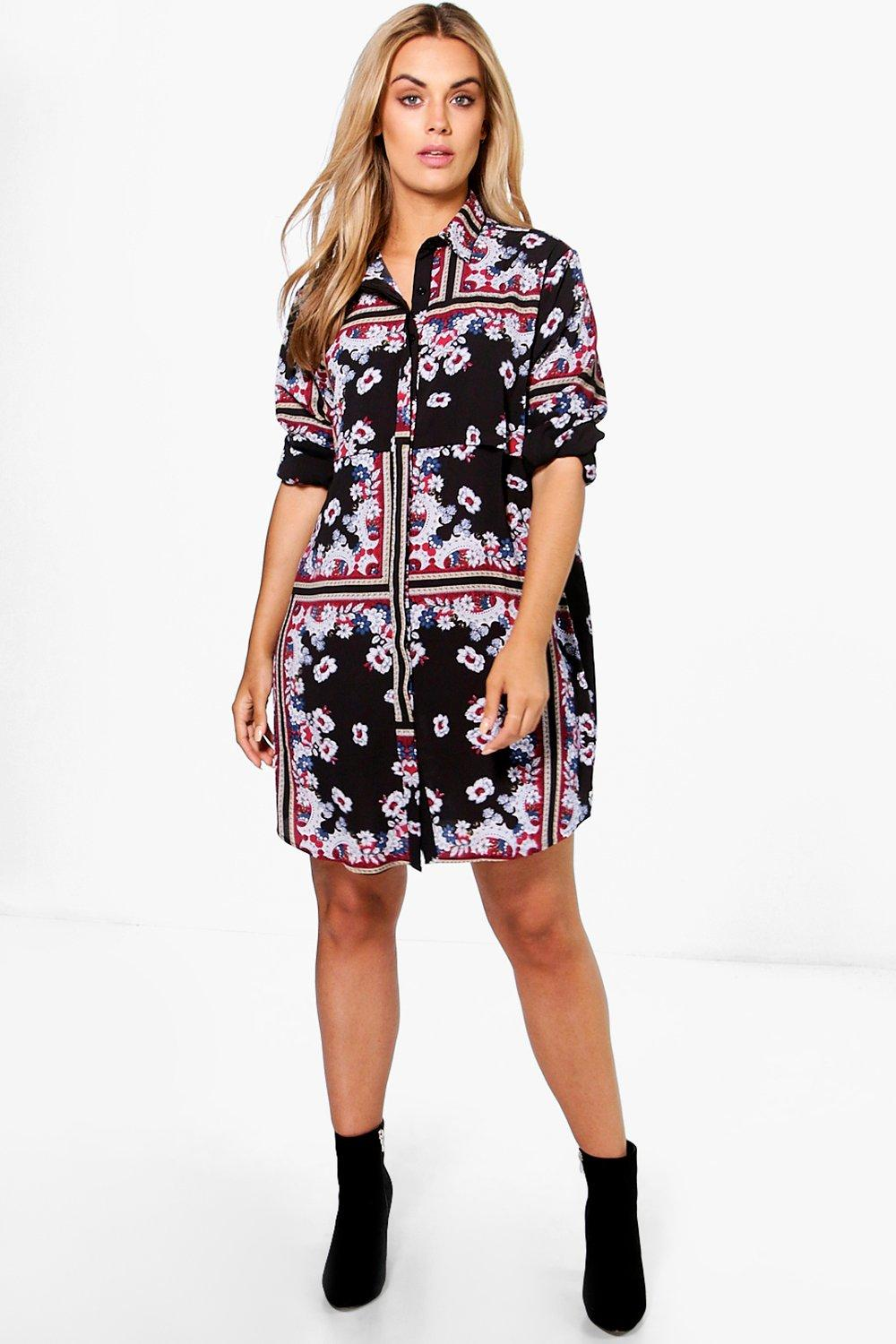 Plus Tillie Paisley Shirt Dress
