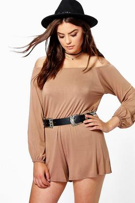 Plus Melodi Bandeau Jersey Playsuit
