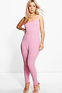 Plus Irena Scallop Edge Bandeau Jumpsuit