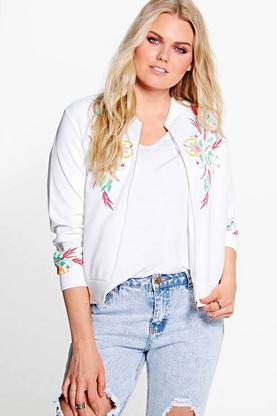 Plus Indi Printed Bomber Jacket