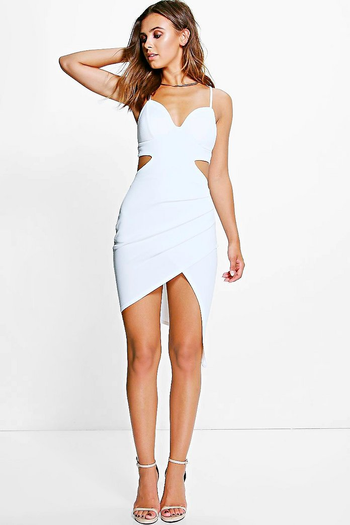 Petite Danika Asymmetric Strappy Dress