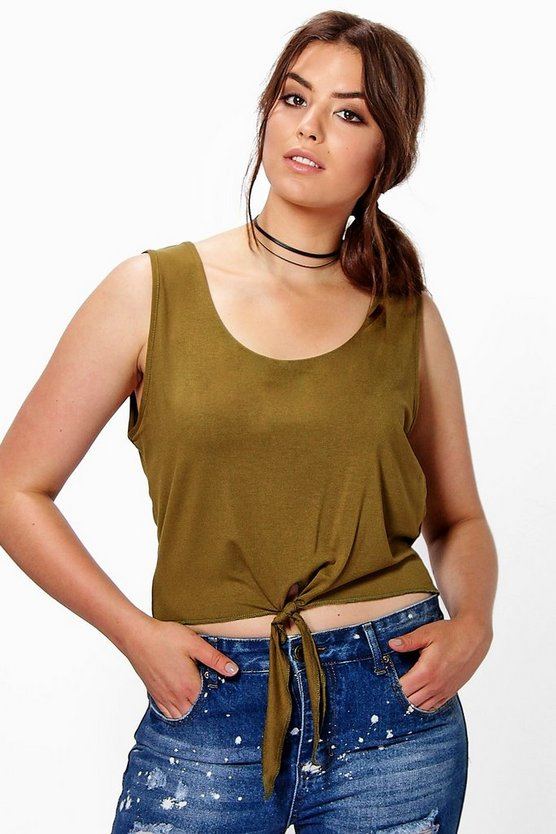 Plus Cammie Knot Detail Top