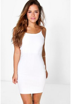 Petite Claris Bandage Strappy Bodycon Dress