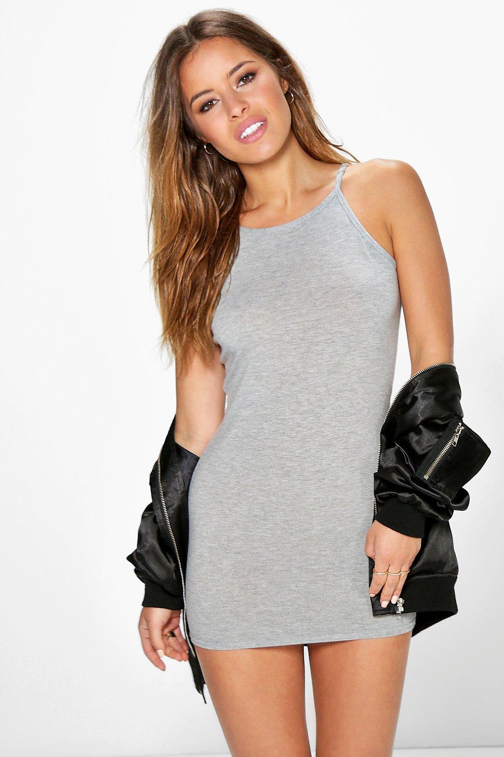 Petite Dinah High Neck Bodycon Dress