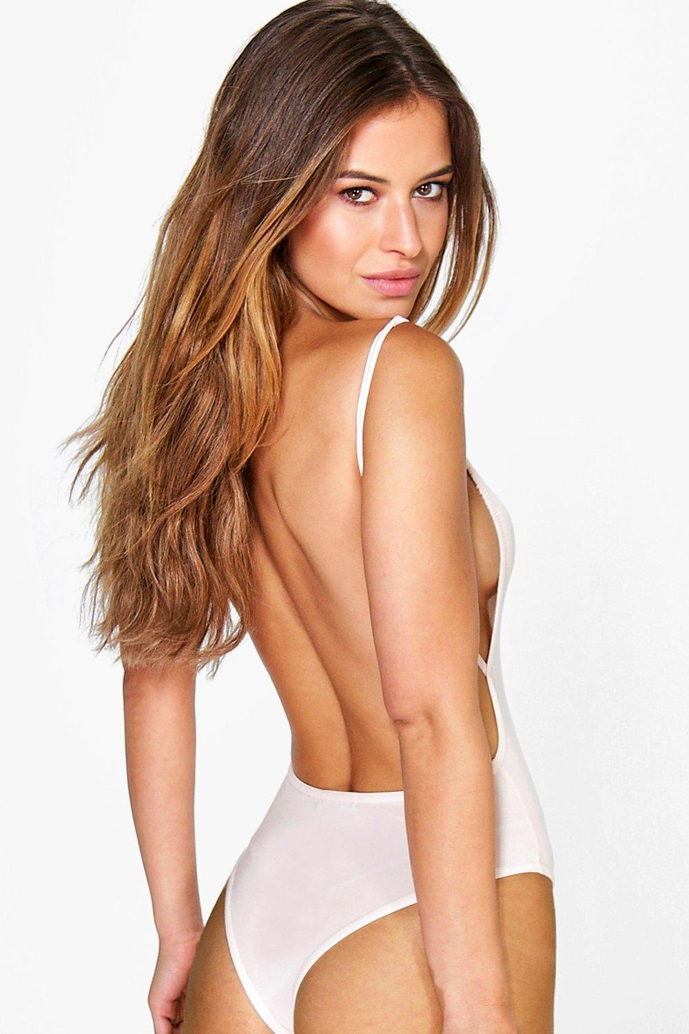 Petite Louisa Backless Strappy Thong Bodysuit