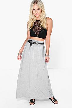 Petite Melly Floor Sweeping Viscose Maxi Skirt