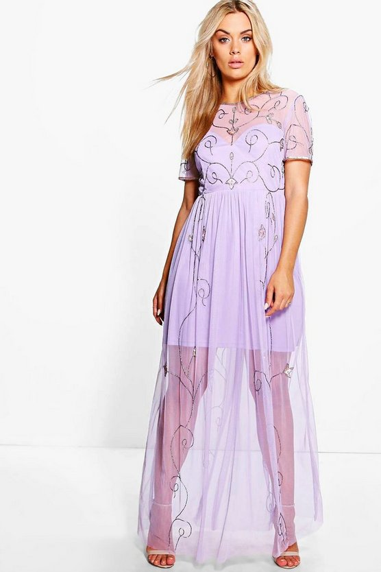 Plus Elin Boutique Embellished Maxi Dress