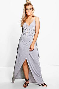 Plus Lenka Wrap Front Maxi Dress