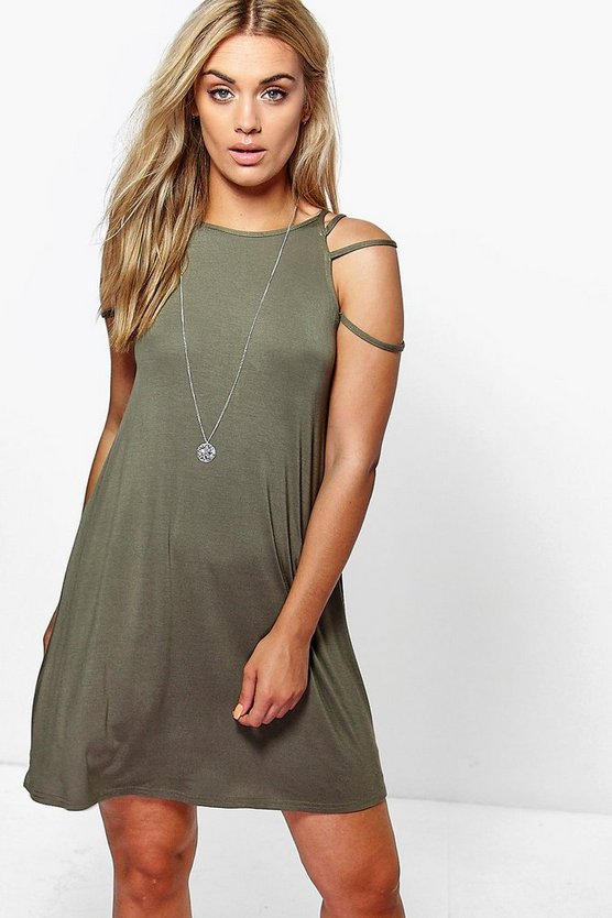 Plus Liana Strappy Neck Swing Dress