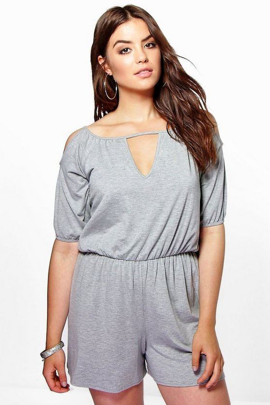 Plus Maisha Off The Shoulder Playsuit