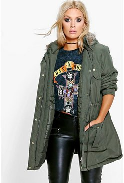 Plus Shauna Parka With Adjustable Waist