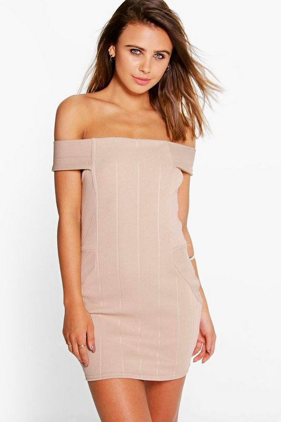 Petite Tessie Bardot Bandage Bodycon Dress