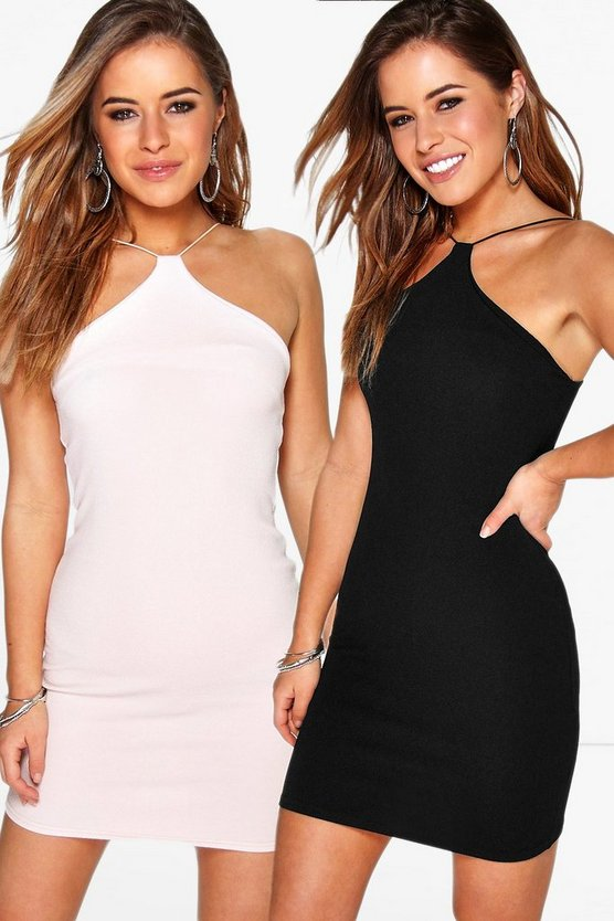 Petite Rebecca 2 Pack Strappy Bodycon Dress