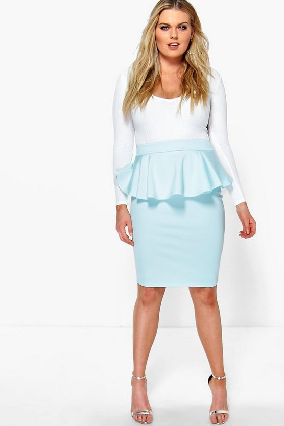 Plus Eliza Peplum Skirt
