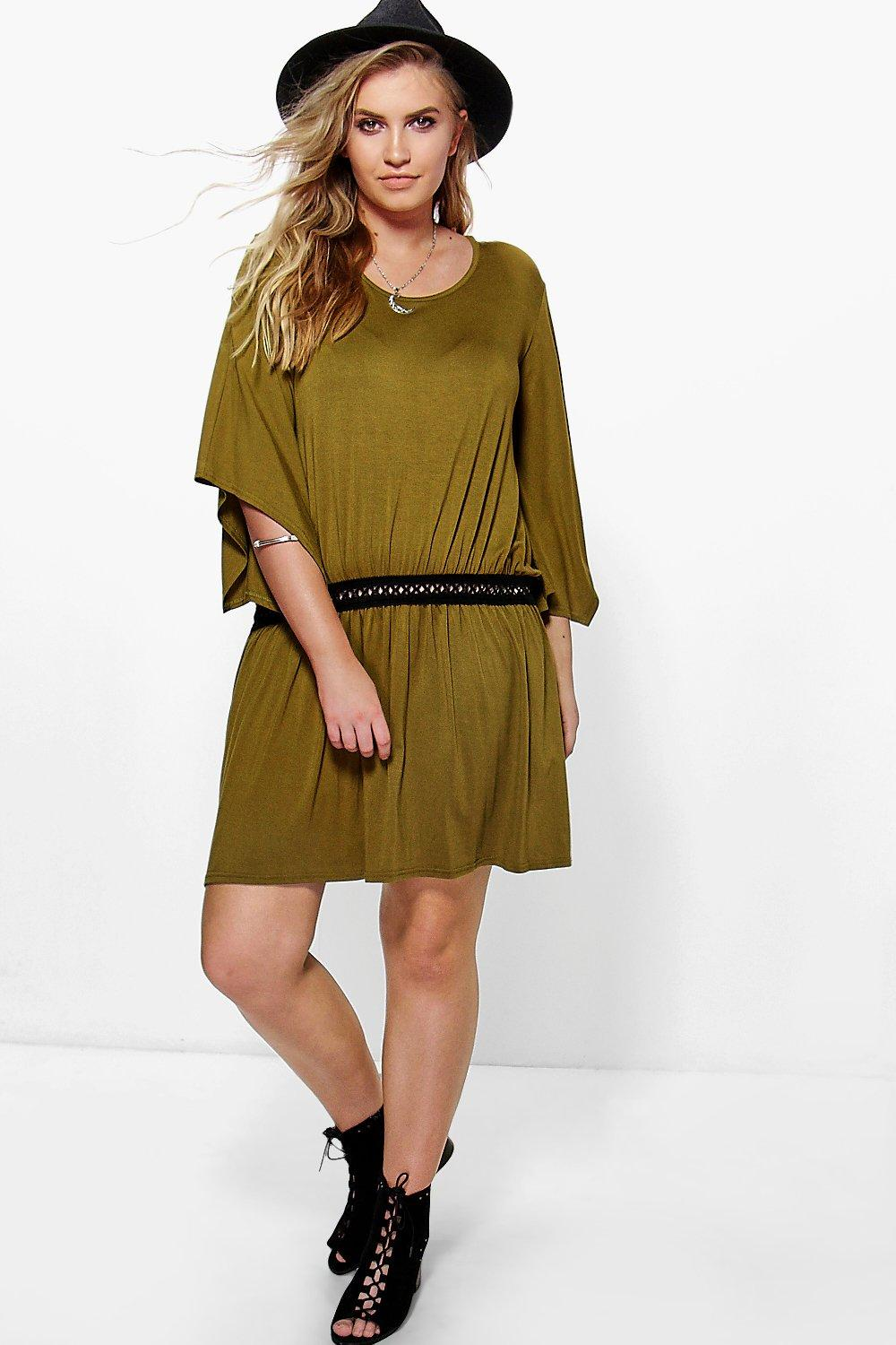 Plus Kady Slouch Trim Detail Dress